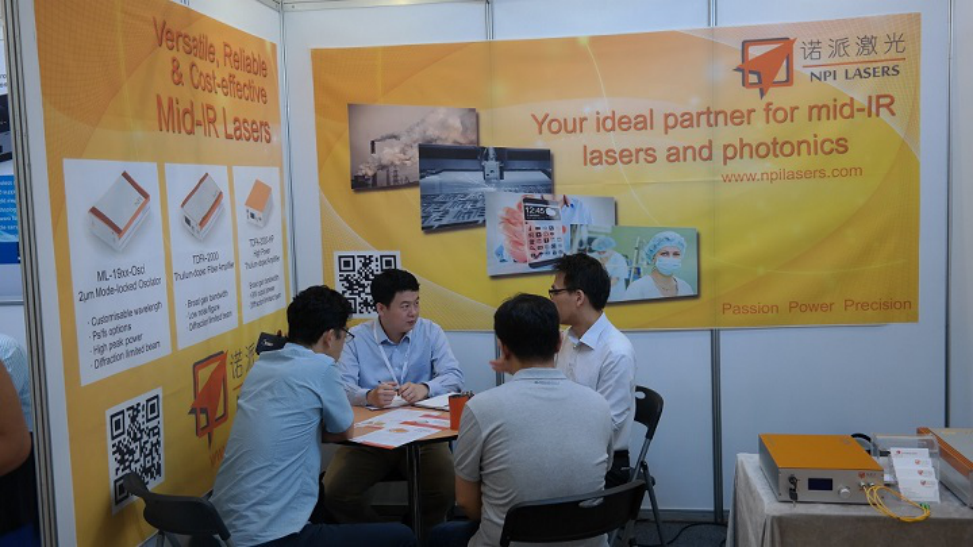 Author:NPILasers  Source:  Date:2015-09-02  Hit:404  NPI Lasers has successfully participated in CLEO-PR 2015 conference in Korea on 24-28 August. The products of NPI Lasers welcomed large amount of attentions and interests from potential scientific and industrial customers.  Discussion with Korean industrial customers
